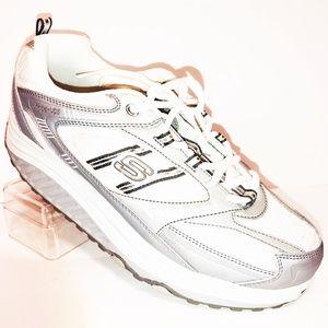 Skechers Shape - Ups Womens 9.5 White & Gray EUC!
